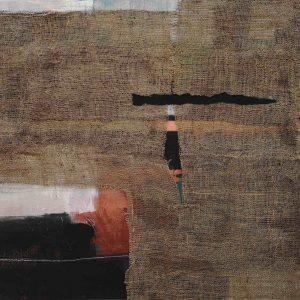 Abstrakt, Mixed Media, Material, Jute, Acrylbild, Komposition