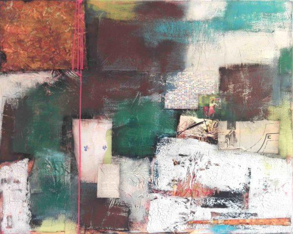 Abstrakt, Mixed Media, Collage, Acrylbild, Strukturbild, Frau, Emanzipation