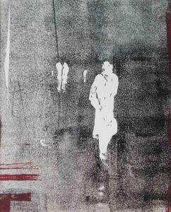 Abstrakt, Figur, Monotypie, Druckgrafik, Unikat