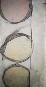 Abstrakt, Acrylbild, Zeit, Warten, Ampel