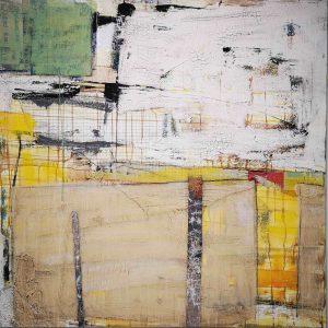 Abstrakt, Mixed Media, Collage, Gelb
