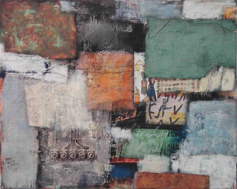 Abstrakt, Mixed Media, Collage, Acrylbild, Strukturbild, Komposition