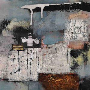 Abstrakt, Mixed Media, Collage, Acrylbild, Strukturbild, Ausgangssperre