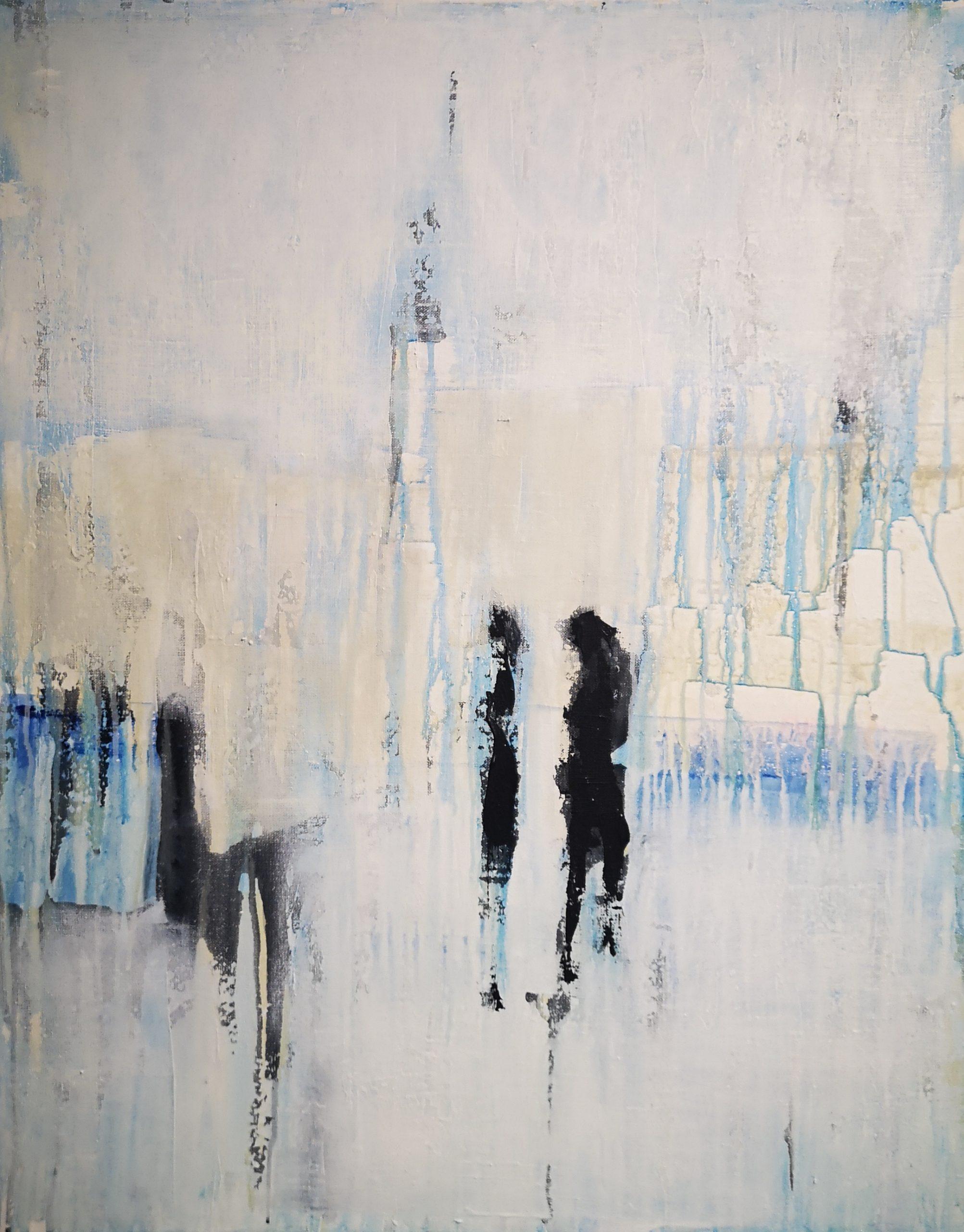 Kunst, abstrakte Malerei, Strukturbild, Acrylmalerei auf Leinwand
