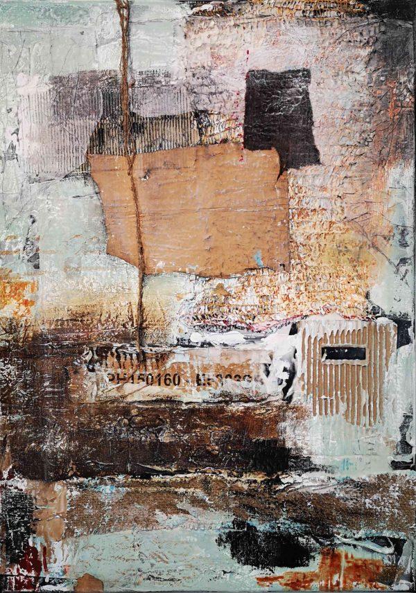 Abstrakt, Mixed Media, Collage, Acrylbild, Strukturbild, Materialbild