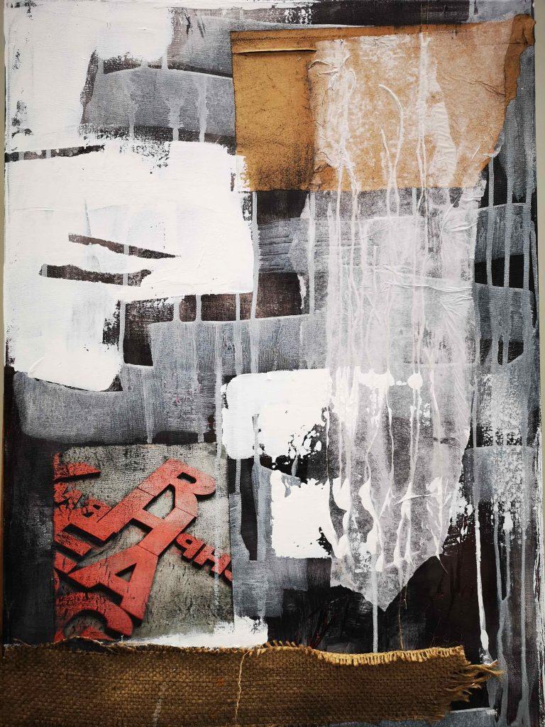 Abstrakt, Mixed Media, Collage, Acrylbild, Strukturbild, Material