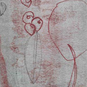Abstrakt, Monotypie, Druckgrafik, Unikat, Papier