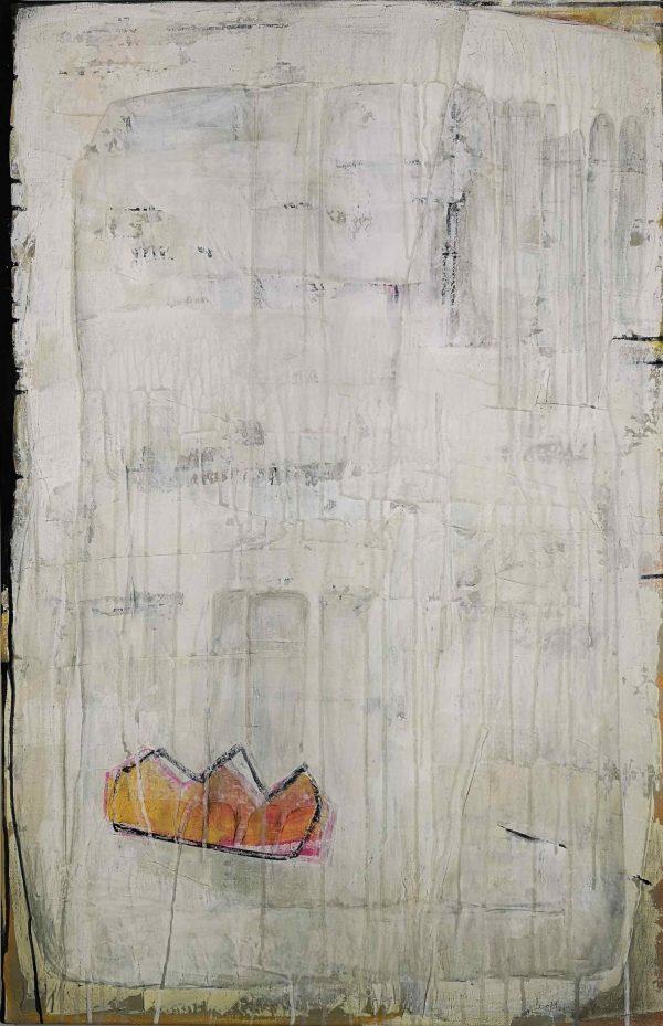 Abstrakt, Collage, Acrylbild, Krone, Hamlet, Shakespeare
