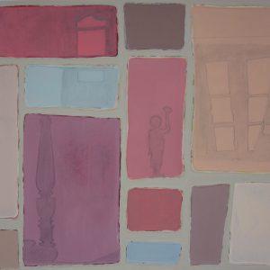 Abstrakt, Acrylbild, Schatten, Zimmer, Farben
