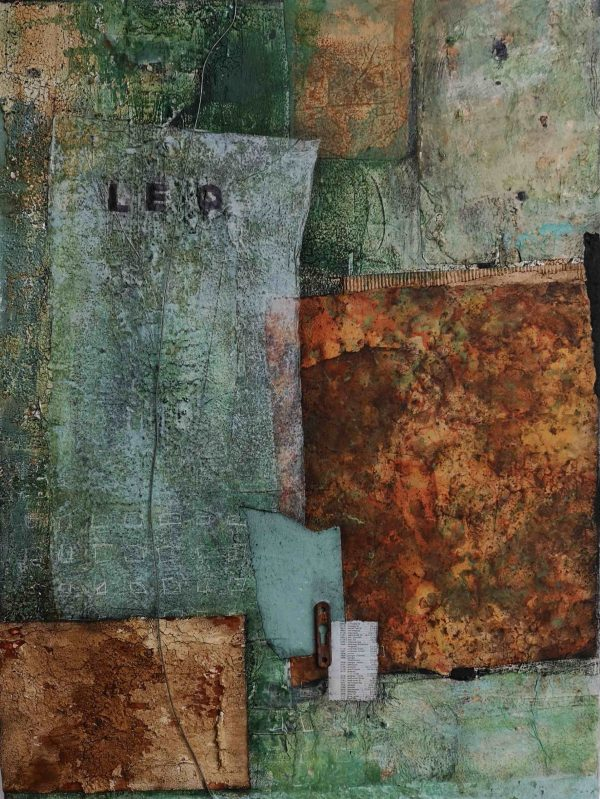 Mixed Media, Collage, Assemblage, Acrylbild, Strukturbild, Leinwand, Adresse, Wohnen