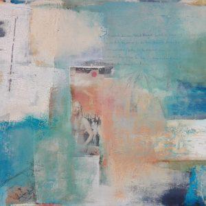 Abstrakte Malerei, Collage, Mischtechnik, Strukturbild, Botschaft, Liebe