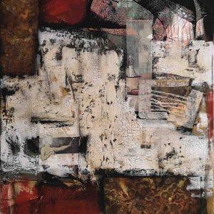 Abstrakt, Mixed Media, Collage, Acrylbild, Strukturbild, Frauen, Rote,