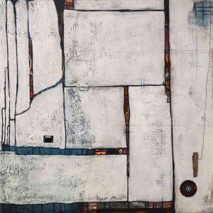 Abstrakt, Mischtechnik, Collage, Strukturbild, Acrylbild, Assemblage, Foto, Weiß
