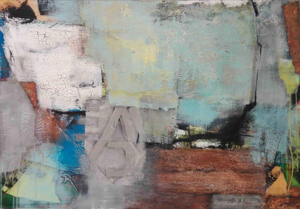 Abstrakt, Mixed Media, Collage, Acrylbild, Strukturbild