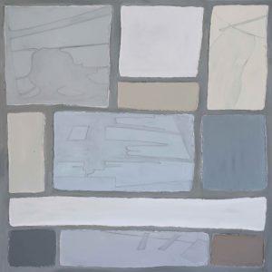 Abstrakt, Acrylbild, Schatten, Raum, Grau