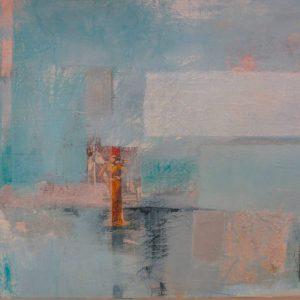 Abstrakte Malerei, Strukturbild, Collage, Acrylbild auf Leinwand
