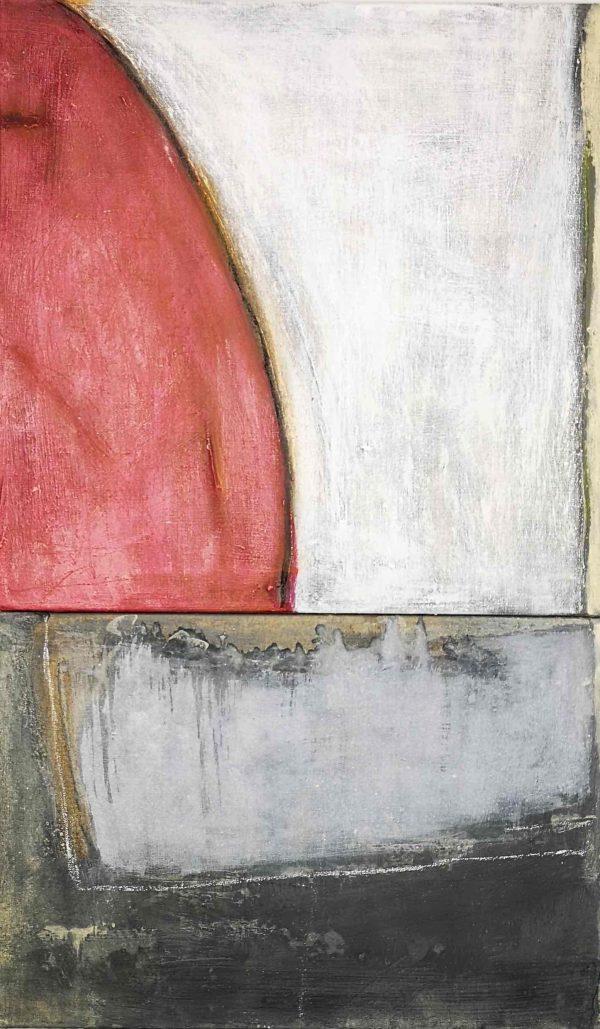 Abstrakt, Acrylbild, Leinwand, Rot
