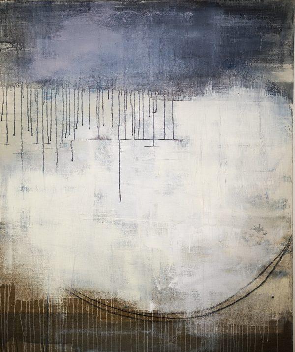 Abstrakt, Malerei, Leinwand, Acrylbild, Mond