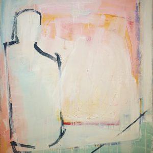 Abstrakt, Malerei, Acrylbild, Leinwand, Glücksfall, glückliches Zusammentreffen