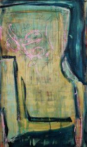 Abstrakt, Malerei, Acrylbild, Leinwand, Stuhl