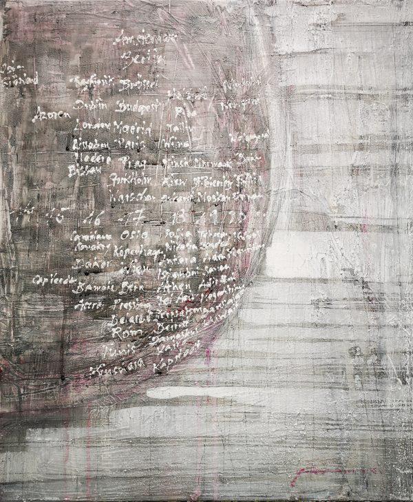 Abstrakt, Acryl, Malerei, Leinwand, Welt, Zeit, Uhr